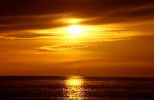 Ulf Göbel, Seelenheil, Landschaft: See/Meer, Romantik: Sonnenuntergang, Realismus