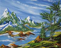 Ulf-Goebel-Landschaft-Berge-Natur-Diverse-Gegenwartskunst--Gegenwartskunst-