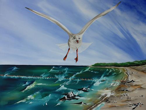 Ulf Göbel, Unbefangen, Landschaft: See/Meer, Tiere: Luft, Gegenwartskunst