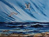 Ulf-Goebel-Landschaft-See-Meer-Diverse-Gefuehle-Gegenwartskunst--Gegenwartskunst-