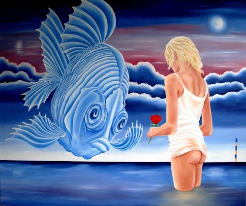 Joerg Peter Hamann, Desiree, Landschaft: See/Meer, Natur: Wasser, Postsurrealismus, Abstrakter Expressionismus