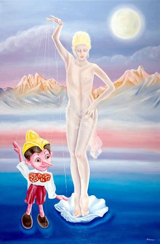 Joerg Peter Hamann, Adam and Eve, Akt/Erotik: Akt Frau, Fantasie, Postsurrealismus