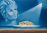 Joerg-Peter-Hamann-Landschaft-See-Meer-Fantasie-Gegenwartskunst-Postsurrealismus