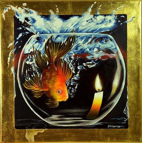 Joerg Peter Hamann, Irrlicht (feu follet), Tiere: Wasser, Natur: Wasser, Fotorealismus, Expressionismus