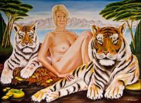 Joerg-Peter-Hamann-Menschen-Frau-Tiere-Land-Gegenwartskunst-Postsurrealismus