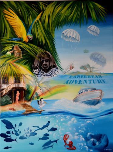 Joerg Peter Hamann, Caribbian Adventure, Landschaft: Tropisch, Landschaft: Strand, Realismus