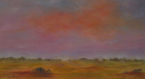 Sabina Haas, Abendhimmel, Landschaft: Ebene, Natur: Luft, Gegenwartskunst