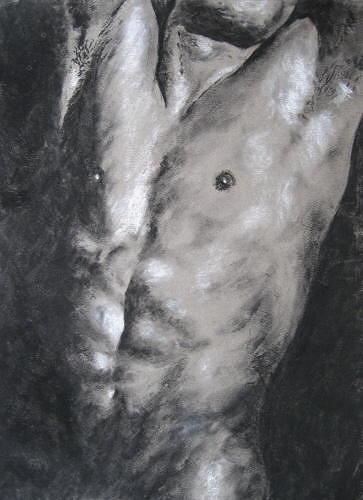 Sabina Haas, The man I, Akt/Erotik: Akt Mann, Menschen: Mann, Gegenwartskunst, Abstrakter Expressionismus