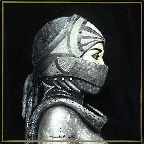 Giampaolo Bianchi, Black Tuareg V, Menschen: Frau, Fashion, Gegenwartskunst, Expressionismus