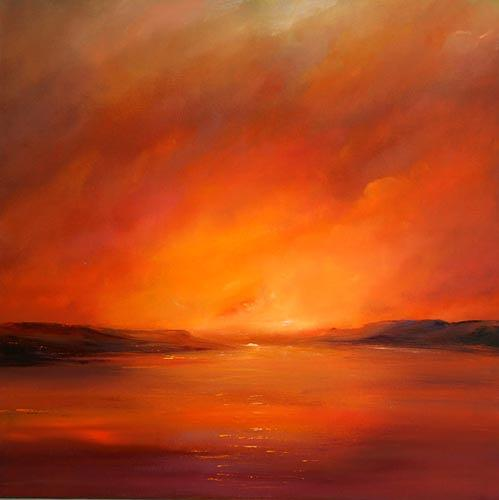 Petra Ackermann, Afterglow, Landschaft: See/Meer, Natur: Wasser, Gegenwartskunst