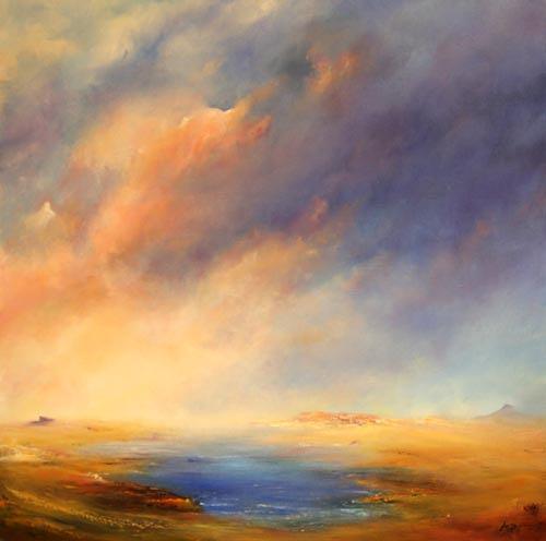 Petra Ackermann, desert Lake, Landschaft: Ebene, Natur: Wasser, Gegenwartskunst, Expressionismus