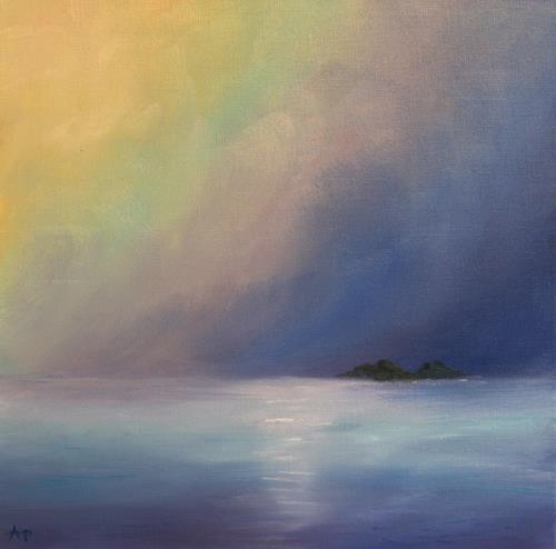 Petra Ackermann, Calm Waters, Landschaft: See/Meer, Natur: Wasser, Gegenwartskunst, Expressionismus