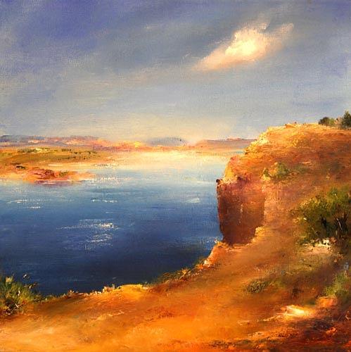 Petra Ackermann, For Candie, Landschaft: See/Meer, Natur: Gestein, Gegenwartskunst, Expressionismus
