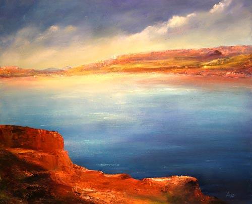 Petra Ackermann, A Beautiful Day, Landschaft: See/Meer, Natur: Wasser, Gegenwartskunst