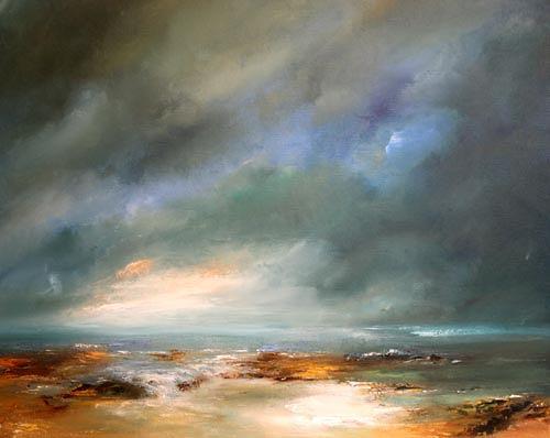 Petra Ackermann, Stormy Skies, Landschaft: See/Meer, Gegenwartskunst, Expressionismus