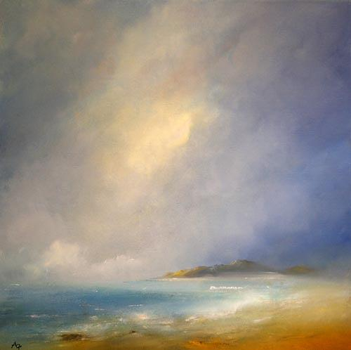 Petra Ackermann, Morning Mists, Landschaft: See/Meer, Natur: Wasser, Gegenwartskunst, Expressionismus