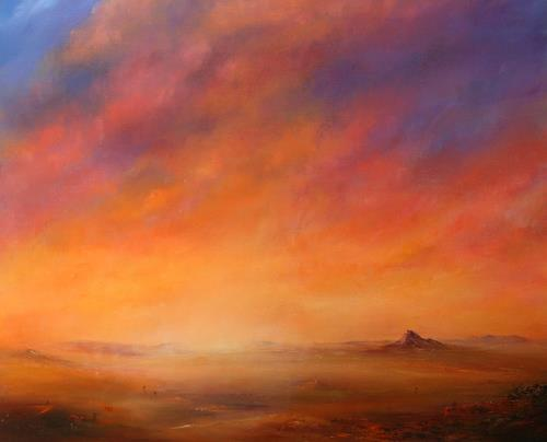 Petra Ackermann, Twilight, Landschaft: Ebene, Landschaft: Berge, Abstrakte Kunst