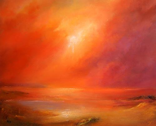 Petra Ackermann, Infinity, Landschaft: See/Meer, Gegenwartskunst, Expressionismus