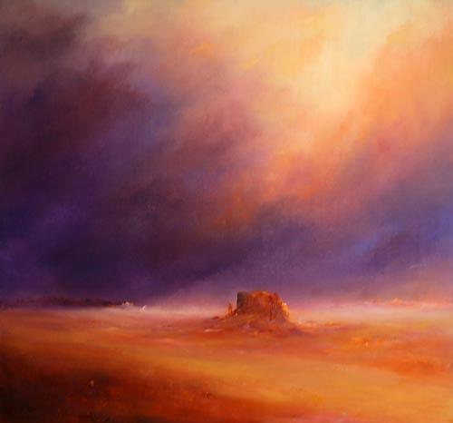 Petra Ackermann, Desert Storm, Landschaft: Ebene, Natur: Gestein, Gegenwartskunst