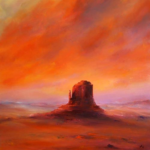 Petra Ackermann, Desert Glow, Landschaft: Ebene, Natur: Gestein, Gegenwartskunst, Expressionismus
