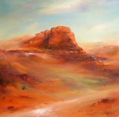 Petra Ackermann, Red Rocks, Landschaft: Berge, Natur: Gestein, Gegenwartskunst, Expressionismus