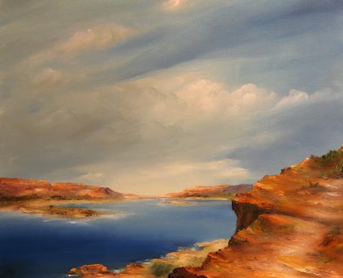 Petra Ackermann, The Lake  II, Landschaft: See/Meer, Landschaft: Berge, Gegenwartskunst