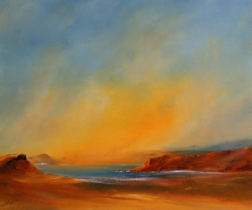 Petra Ackermann, Lake Powell Impressions, Landschaft: See/Meer, Natur: Gestein, Gegenwartskunst, Expressionismus