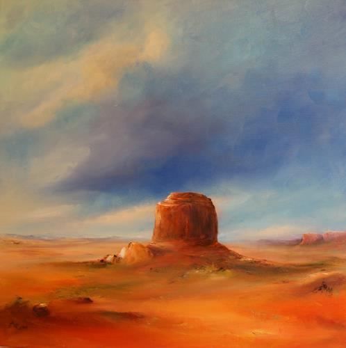 Petra Ackermann, The Butte, Landschaft: Ebene, Natur: Gestein, Gegenwartskunst