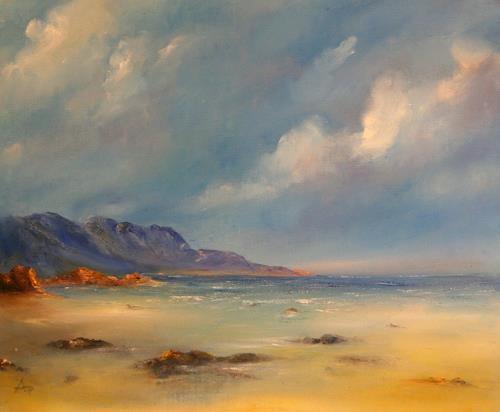 Petra Ackermann, The Beach, Natur: Gestein, Landschaft: See/Meer, Gegenwartskunst, Expressionismus