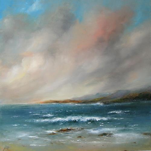 Petra Ackermann, Grey Skies, Landschaft: See/Meer, Natur: Wasser, Gegenwartskunst, Expressionismus