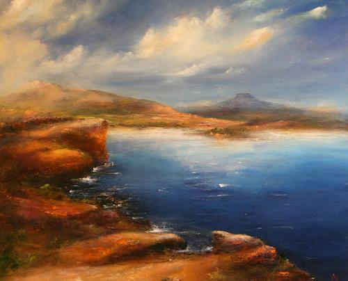 Petra Ackermann, The Enchanted Lake, Landschaft: See/Meer, Natur: Gestein, Abstrakte Kunst