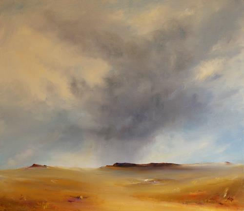 Petra Ackermann, Desert Impressions, Landschaft: Ebene, Natur: Luft, Gegenwartskunst, Expressionismus