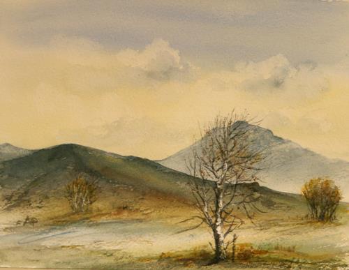 Petra Ackermann, Somewhere in Connemara, Landschaft: Berge, Natur: Luft, Gegenwartskunst