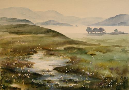 Petra Ackermann, Memories of Ireland / Connemara, Landschaft: Berge, Natur: Wasser, Gegenwartskunst, Expressionismus