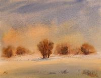 Petra-Ackermann-Landschaft-Winter-Landschaft-Ebene-Gegenwartskunst-Gegenwartskunst