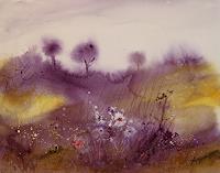 Petra-Ackermann-Pflanzen-Blumen-Landschaft-Huegel-Gegenwartskunst-Gegenwartskunst