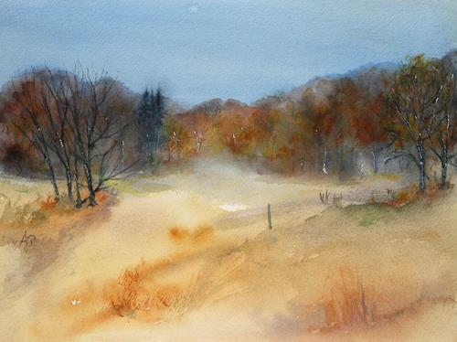 Petra Ackermann, Herbst  Symphony, Landschaft: Herbst, Natur: Wald, Gegenwartskunst, Expressionismus