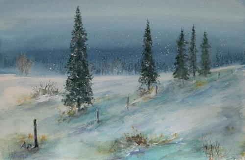 Petra Ackermann, Winter Dream, Landschaft: Winter, Natur: Wald, Gegenwartskunst