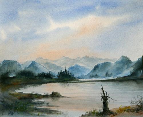 Petra Ackermann, Memories / British Columbia, Landschaft: Berge, Landschaft: See/Meer, Gegenwartskunst