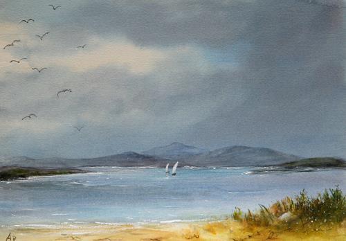 Petra Ackermann, Sea and Sky, Landschaft: See/Meer, Natur: Wasser, Gegenwartskunst