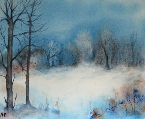 Petra Ackermann, Winter Fantasie, Landschaft: Winter, Natur: Wald, Gegenwartskunst