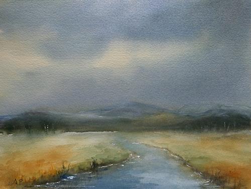 Petra Ackermann, Little River, Landschaft: Ebene, Natur: Wasser, Gegenwartskunst