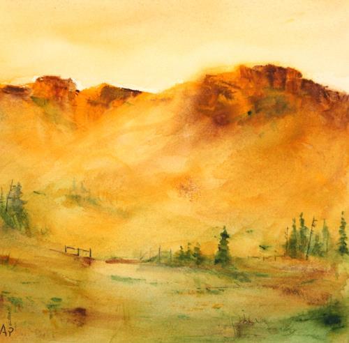 Petra Ackermann, Somewhere, Landschaft: Berge, Natur: Gestein, Gegenwartskunst, Expressionismus