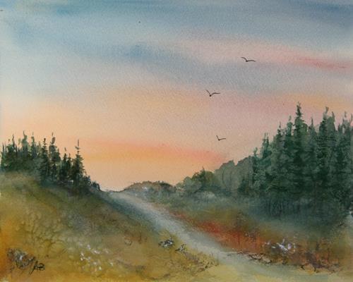 Petra Ackermann, On The Trail, Diverse Landschaften, Natur: Wald, Gegenwartskunst
