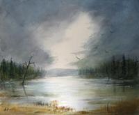 Petra-Ackermann-Landschaft-See-Meer-Natur-Wald-Gegenwartskunst-Gegenwartskunst
