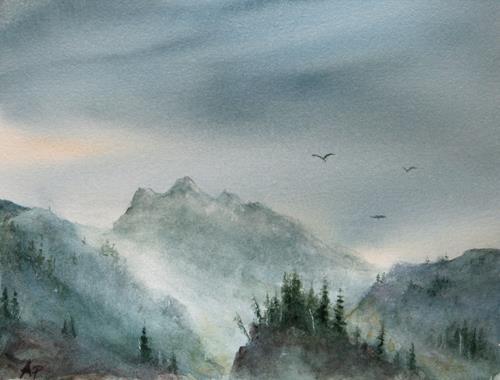 Petra Ackermann, Painted Dreams, Landschaft: Berge, Natur: Gestein, Gegenwartskunst