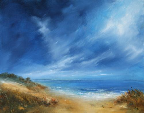 Petra Ackermann, Sea and Sky, Landschaft: See/Meer, Landschaft: Strand, Gegenwartskunst
