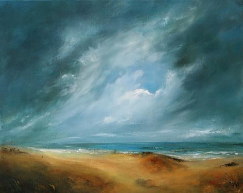 Petra Ackermann, Stormy Skies, Landschaft: See/Meer, Landschaft: Strand, Gegenwartskunst