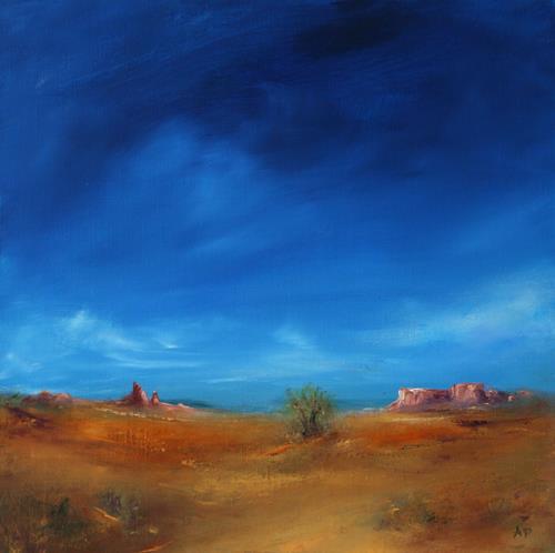 Petra Ackermann, Southwest Fantasies, Landschaft: Ebene, Landschaft: Sommer, Gegenwartskunst, Expressionismus