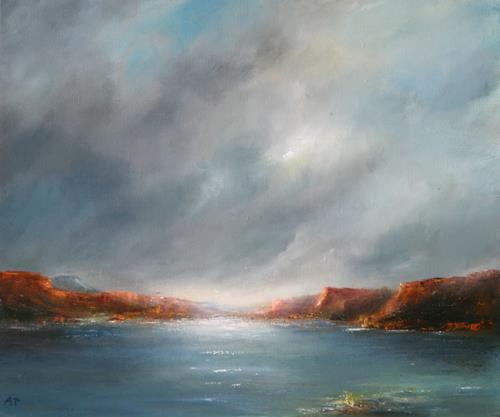 Petra Ackermann, Lake Abiquiu, Landschaft: See/Meer, Landschaft: Berge, Gegenwartskunst
